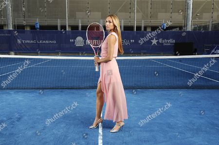 Editorial photo of May .2012. Mardid Wta Womens Fashion Shoot For The Daily Mail Credit Image: Andy Hooper/daily Mail/solo Syndication) Gisela Dulko (argintinian) Wears Bax Paris Pale Pink Long Dress Zara Shoes.