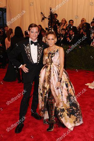 Hamish Bowles and Sarah Jessica Parker
