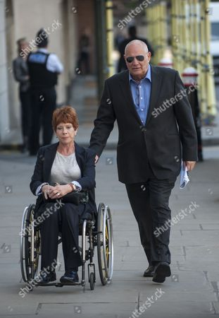 Former newspaper proprietor Eddy Shah arriving at the Old Bailey with his wife Jennifer