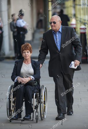 Stock Image of Former newspaper proprietor Eddy Shah arriving at the Old Bailey with his wife Jennifer