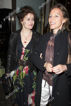 Helena Bonham Carter and Allie Byrne Esiri