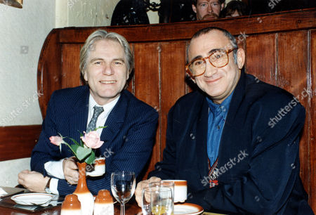 Adam Faith (died 3/03) (left) And Composer Lionel Bart. Pop Stars Gather On The Site Of The 2 I's Coffee Bar In Old Compton Street To Unveil A Plaque.