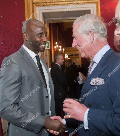 Jason Roberts and Prince Charles