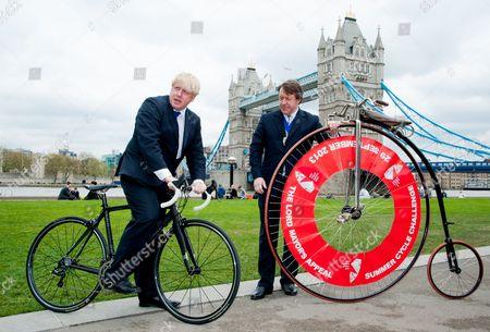 Boris Johnson and Lord Mayor Roger Gifford