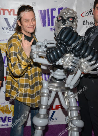 Edward Furlong and Terminator balloon figure