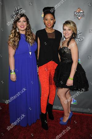 Stock Image of Sarah Simmons, Judith Hill and Amber Carrington