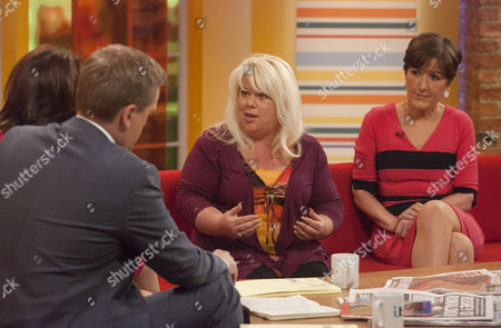 Aled Jones and Lorraine Kelly with Karen Marley and Marilyn Stowe