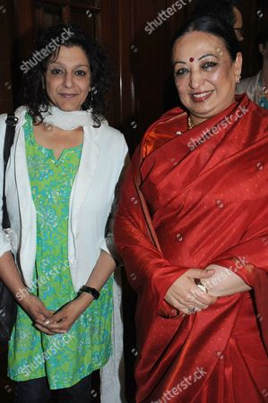 Stock Image of Meera Syal and Rita Bhagwati