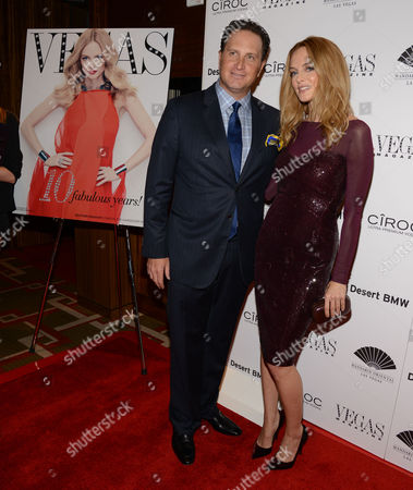 Heather Graham and Josef Vann Vegas magazine Publisher