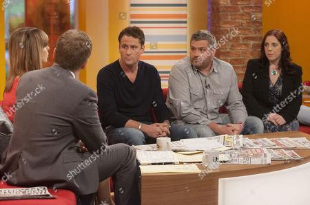Aled Jones and Kate Garraway with Nick Pickard, Darren Couchman and Kat Arney