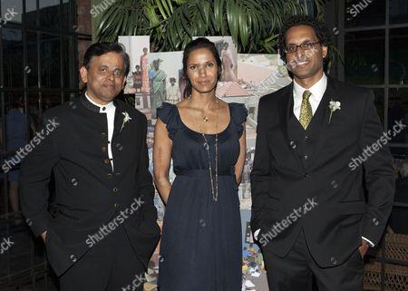 Stock Photo of Dr. Abraham George, Padma Lakshmi and Ajit George
