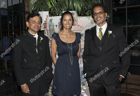 Stock Image of Dr. Abraham George, Padma Lakshmi and Ajit George