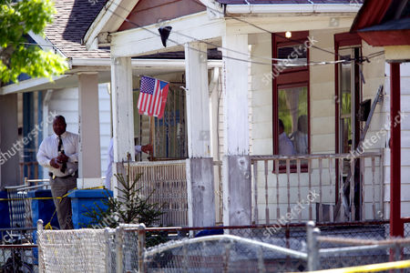 Stock Picture of The house on Seymour Avenue in Cleveland where Gina DeJesus, Amanda Berry, and Michele Knight were found after being held captive for the last decade.