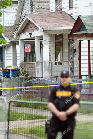 Stock Image of The house on Seymour Avenue in Cleveland where Gina DeJesus, Amanda Berry, and Michele Knight were found after being held captive for the last decade.