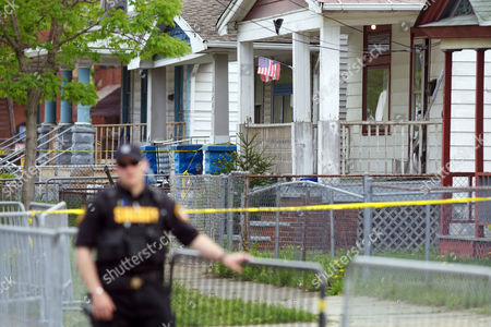 The house on Seymour Avenue in Cleveland where Gina DeJesus, Amanda Berry, and Michele Knight were found after being held captive for the last decade.