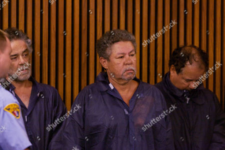 Stock Picture of Pedro J Castro in handcuffs appearing in court