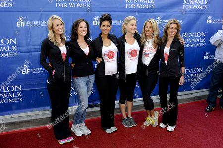 Brooke Anderson, Lilly Tartikoff, Halle Berry, Julie Bowen, Denise Austin and Julia Goldin