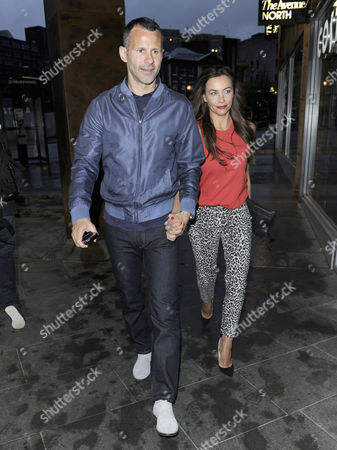 Stock Image of Ryan and Stacey Giggs