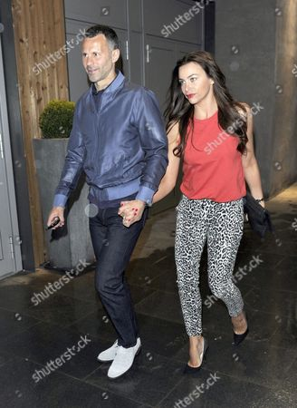 Stock Picture of Ryan and Stacey Giggs