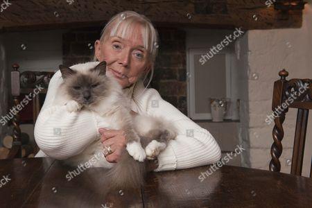 Sarah Kennedy with pet cat