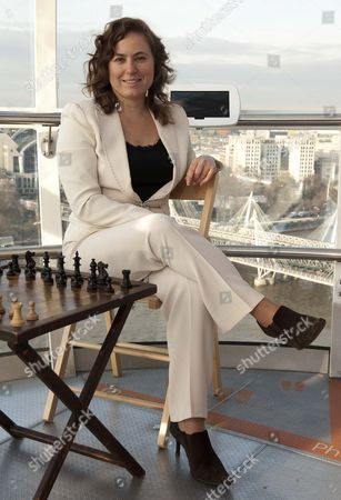 Hungarian chess player Judit Pulgar on the London Eye