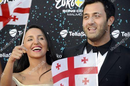 Nodi Tatishvili and Sophie Gelovani of Georgia