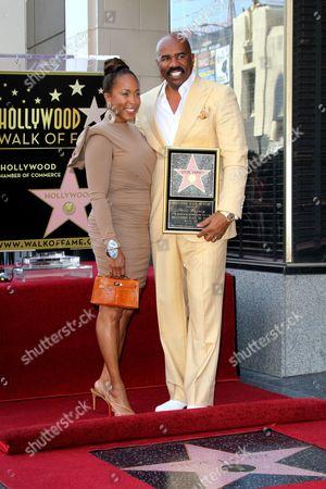 Marjorie Bridges-Woods and Steve Harvey