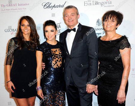 Stock Photo of Leslie Lemarchal, Eva Longoria, Laurence Lemarchal and Pierre Lemarchal