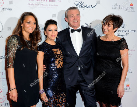 Stock Image of Leslie Lemarchal, Eva Longoria, Laurence Lemarchal and Pierre Lemarchal