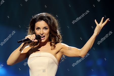 Zlata Ognevich of Ukraine performs in a dress rehearsal for the first Semi-Final