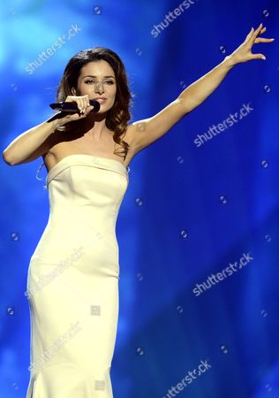 Zlata Ognevich of Ukraine during the first dress rehearsal of the First Semi-final