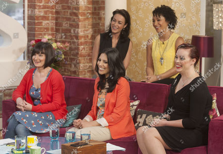 Doctors - Back : Elisabeth Dermot Walsh and Danielle Henry, Front : Dido Miles, Vineeta Rishi and Sharon Marshall
