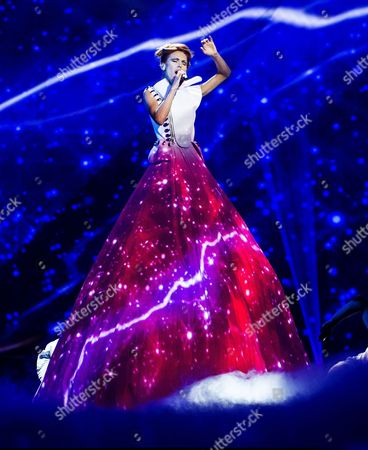 Aliona Moon of Moldova during the first dress rehearsal of the First Semi-final