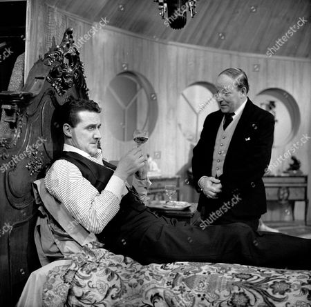 Patrick Macnee and Leslie French