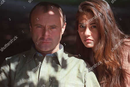 PHIL COLLINS AND GIRLFRIEND ORIANNE CEVEY