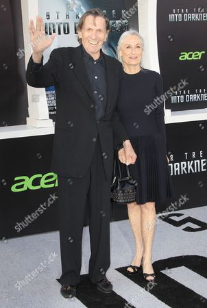 Leonard Nimoy and wife Susan Bay