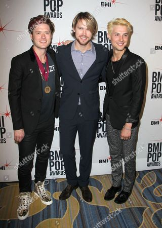 Stock Image of Hot Chelle Rae - Nash Overstreet, Ryan Keith Follese with Chord Overstreet (centre)