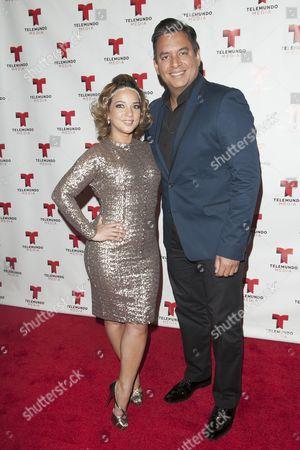 Adamari Lopez and Daniel Sarcos