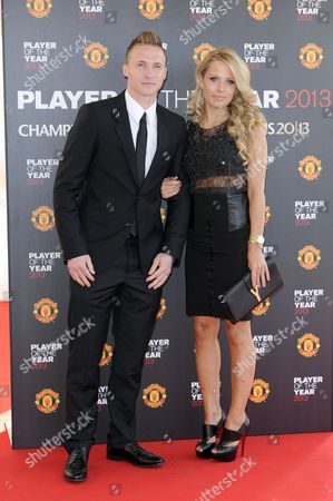 Stock Picture of Alex Buttner and girlfriend