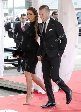 Tom Cleverley and Georgina Dorsett