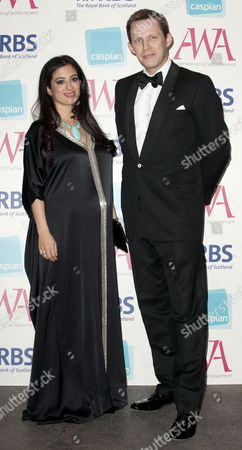 Editorial photo of Picture - Mark Large - 16.05.12... Princess Badiya Bint El Hassan And Ed Blair Attend The Asian Women Of Achievement Awards 2012 At The Hilton On Park Lane London.