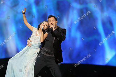 Nodi Tatishvili and Sophie Gelovani representing Georgia