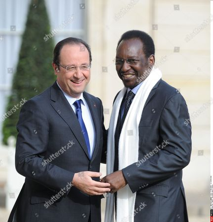 Francois Hollande meets President of Mali Dioncounda Traore at the Elysee Palace