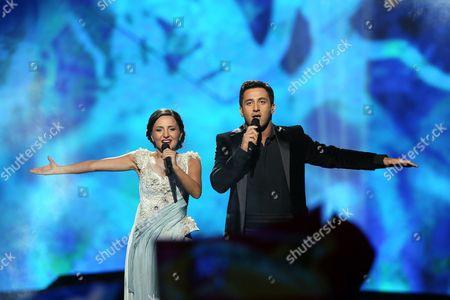 Stock Image of Nodi Tatishvili & Sophie Gelovani representing Georgia