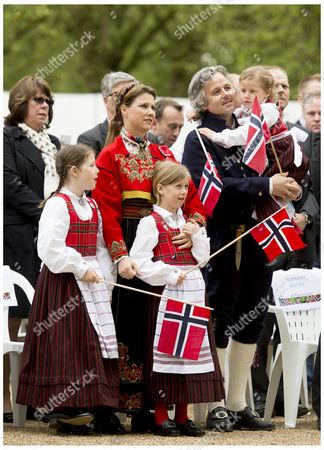 Princess Martha Louise, Ari Behn and daughters Maud Angelica Behn, Leah Isadora Behn and Emma Tallulah Behn