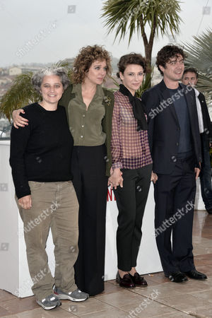 Valeria Golino, Jasmine Trinca, the producers Riccardo Scamarcio and Viola Prestieri