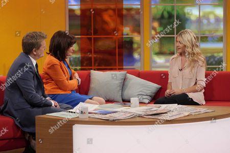 Aled Jones and Lorraine Kelly with Aliki Chrysochou