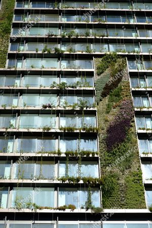 Vertical gardens on One Central Park building