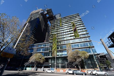 Editorial photo of Vertical gardens at Central Park building in Sydney, Australia - 20 May 2013