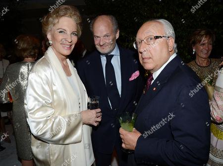 Princess Michael of Kent and Harry Fane (centre)